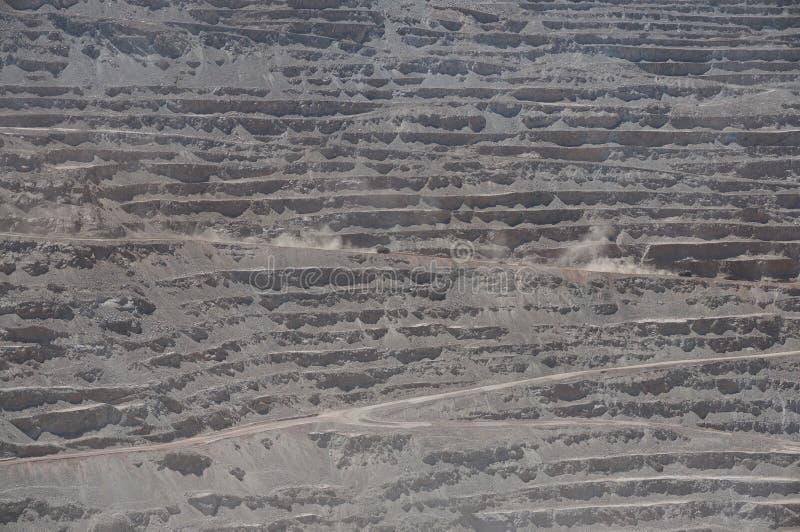 Chuquicamata, Atacama, o Chile fotografia de stock royalty free