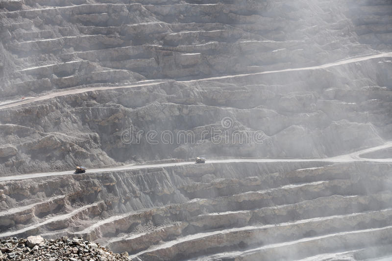 Chuquicamata copper mine, Chile royalty free stock image