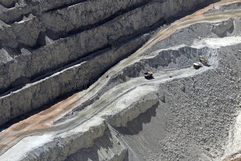 Chuquicamata, de grootste mijn van het de open kuilkoper van de wereld, Chili stock foto's
