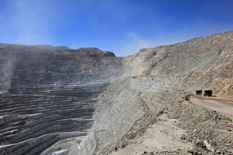 Chuquicamata, de grootste mijn van het de open kuilkoper van de wereld, Chili royalty-vrije stock afbeeldingen