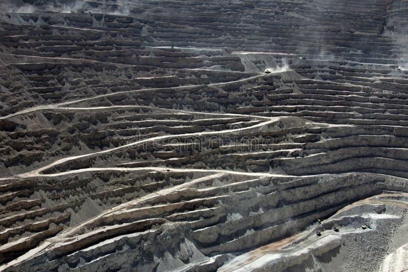 Chuquicamata, de grootste mijn van het de open kuilkoper van de wereld, Chili royalty-vrije stock foto