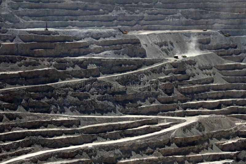 Chuquicamata världs störst kopparmin för öppna grop, Chile fotografering för bildbyråer