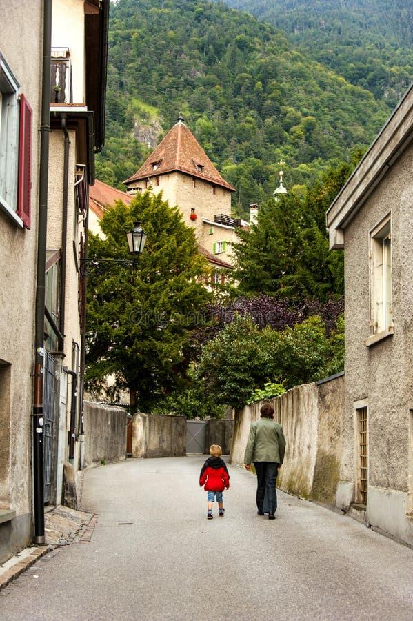 Chur, Zwitserland royalty-vrije stock afbeelding