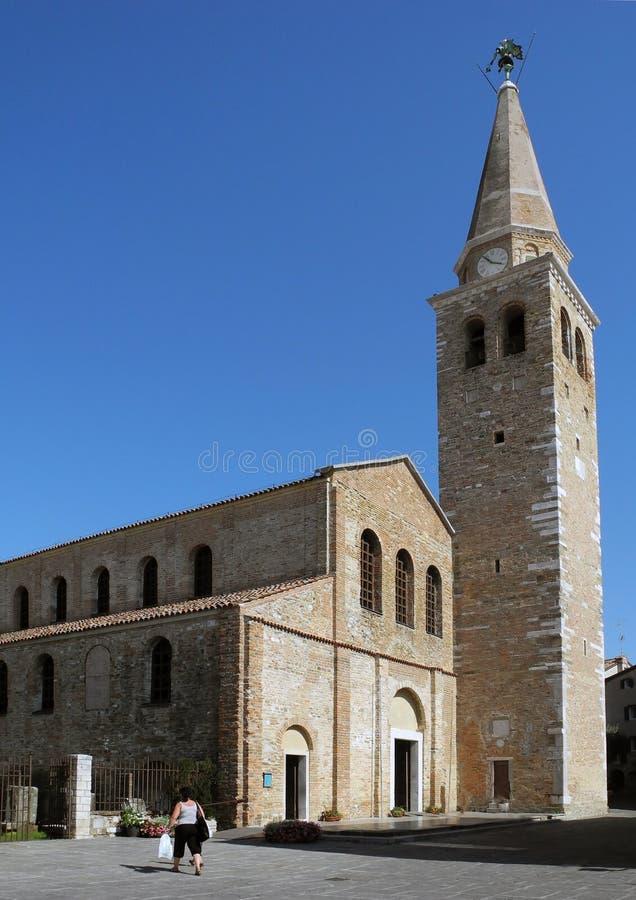 Churc (Basilica) av Sant'Eufemia (Grado) arkivfoton