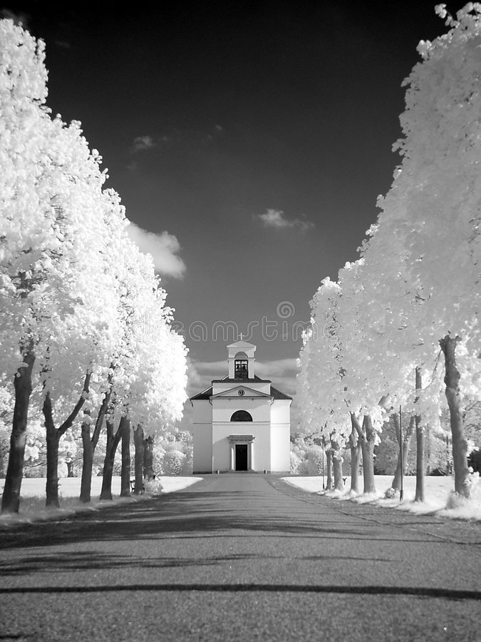Download Church stock image. Image of path, church, white, black, bright - 4201