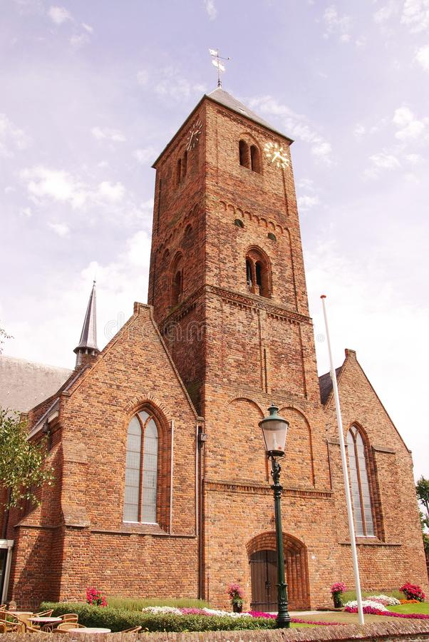 Church. The old church of Naaldwijk in the Netherlands stock image