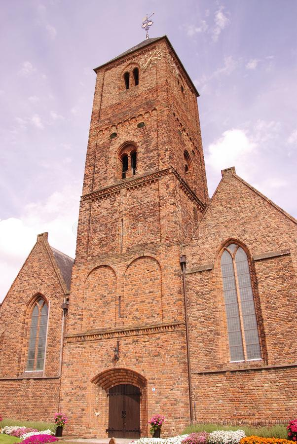 Church. The monumental church of Naaldwijk in the Netherlands royalty free stock photos