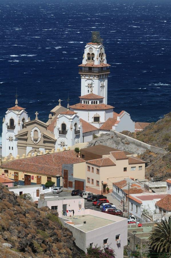 Church. In Candelaria on Teneriffa island royalty free stock photo