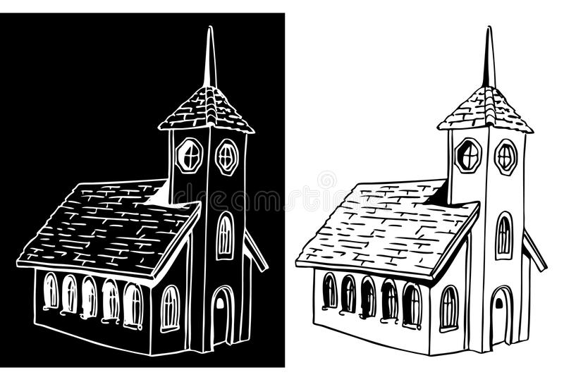 Download Church stock vector. Illustration of drawing, christian - 15579231