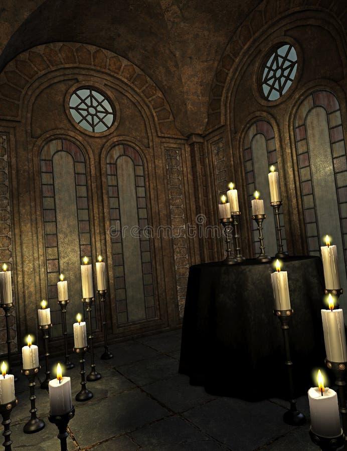 Church. Illustration of a spooky church royalty free illustration