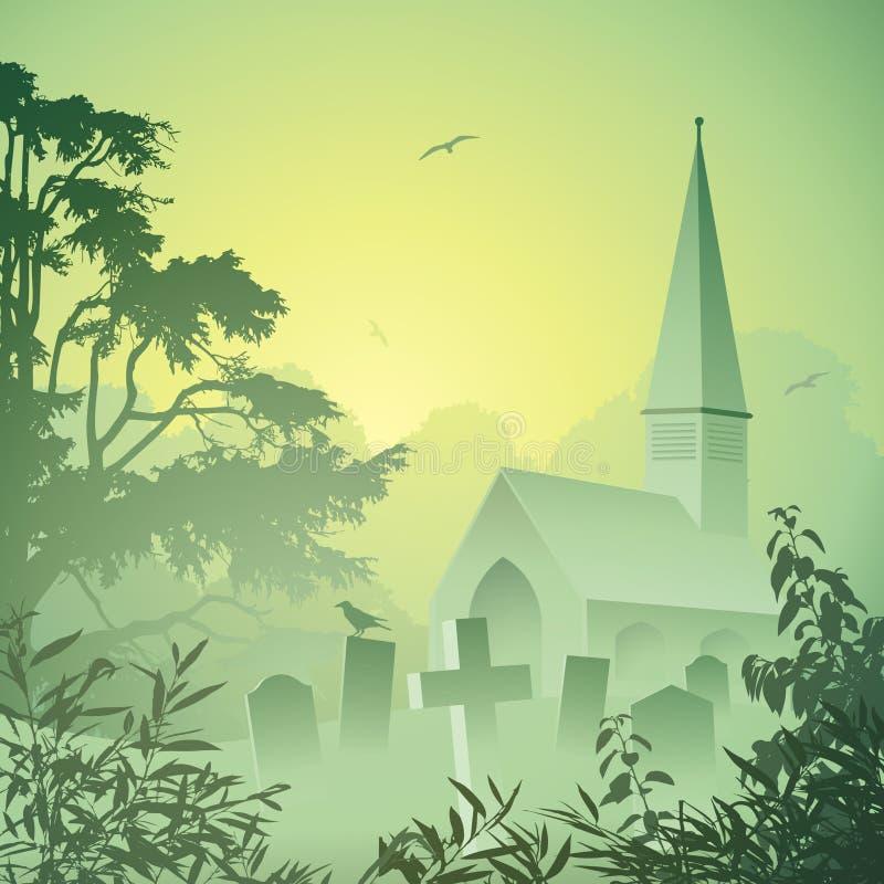 Download Church stock vector. Image of vector, grave, gravestone - 21117524