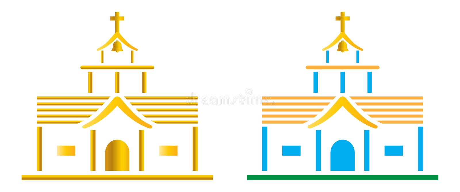 Download Church stock vector. Illustration of building, dramatic - 23979864