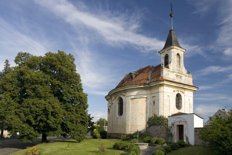Church. In Bohemian village Velenka stock images