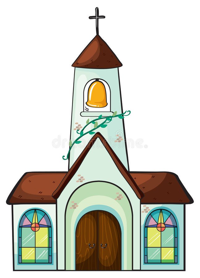Download A church stock illustration. Image of cartoon, colorful - 28071473