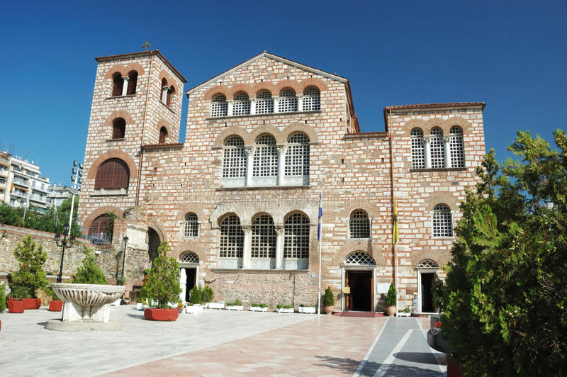 Church of Aghios Demetrios in Thessaloniki,Greece stock photos