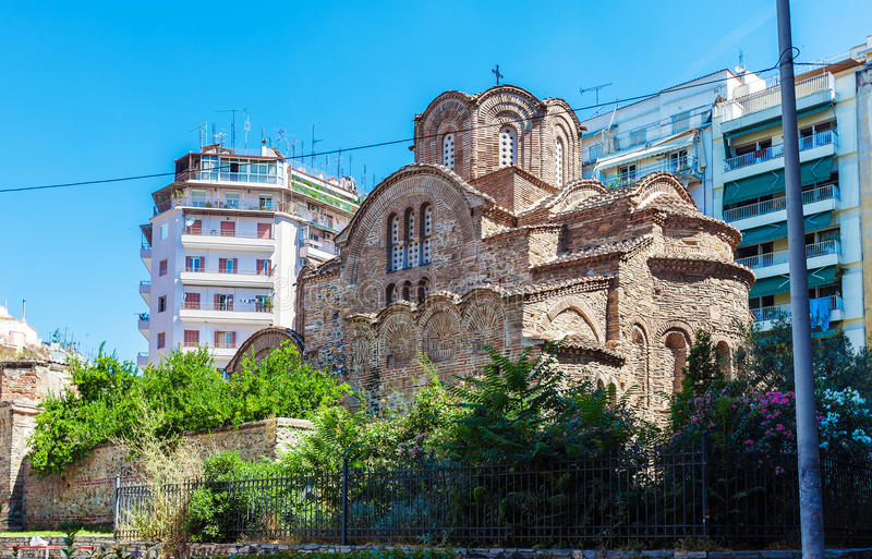 Church of Agios Panteleimon Thessaloniki stock photos