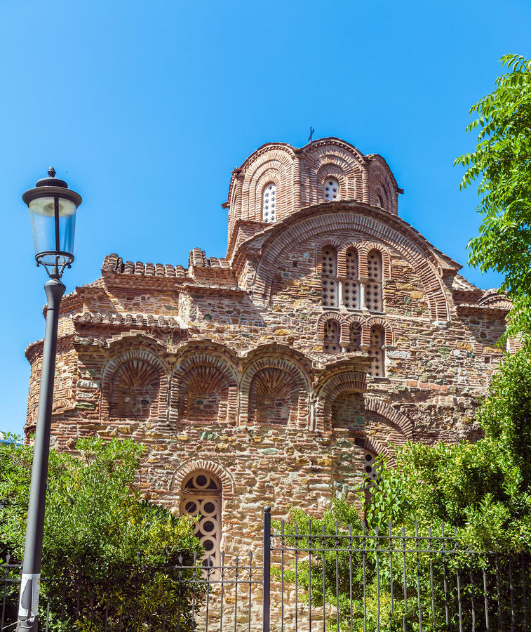 Church of Agios Panteleimon Thessaloniki stock photo
