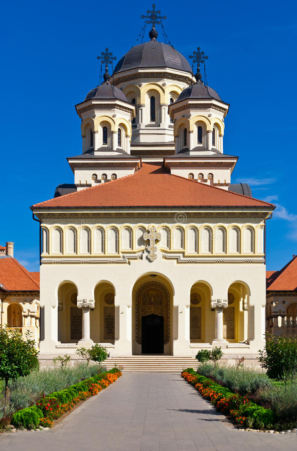 Church in Alba Iulia, Romania stock photos
