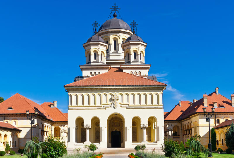 Church in Alba Iulia, Romania stock images