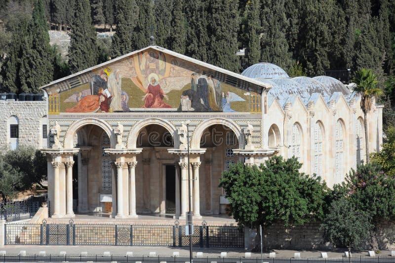 Church of All Natioins in Jerusalem stock photos