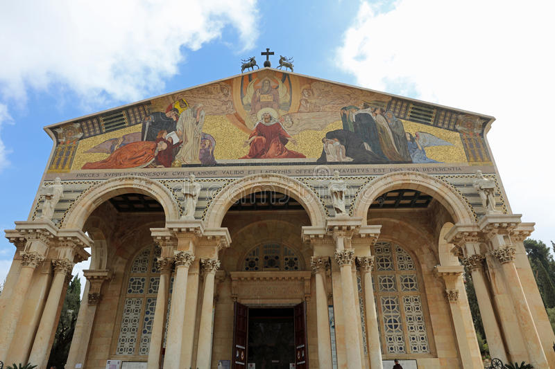 Church of All Nations in Jerusalem royalty free stock photos