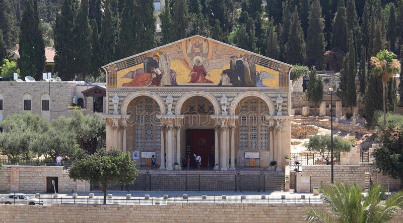 Church of All Nations, Mount of Olives, Israel stock image