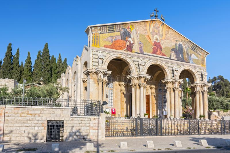 The Church of All Nations, Mount of Olives, Jerusalem, Israel, Middle East. royalty free stock image
