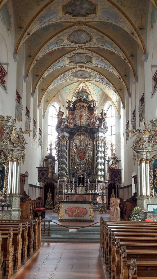 Church Altar Beauty. Beautiful church altar in a german house of god is portrayed in this image stock image