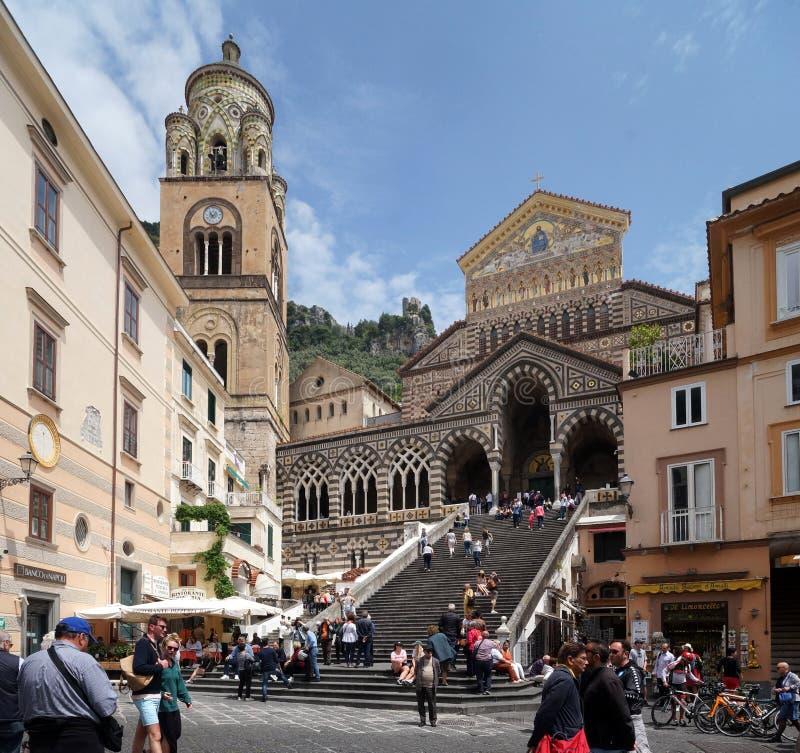 Church of Amalfi, Italy stock photo