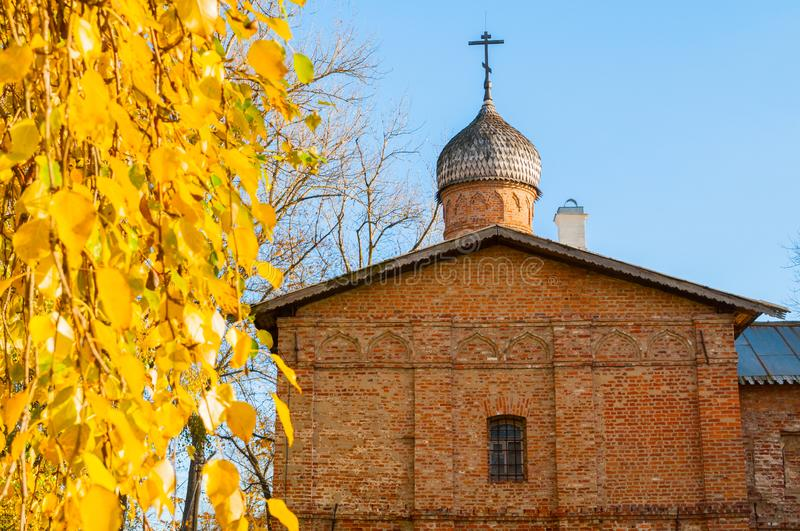 Church of the Annunciation at the Marketplace in Veliky Novgorod, Russia. Autumn view. Church of the Annunciation at the Marketplace in Veliky Novgorod, Russia stock images