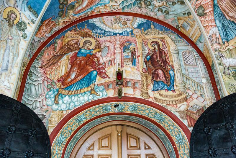 Church of the Annunciation, Pavlovskaya Sloboda, Russia stock photo
