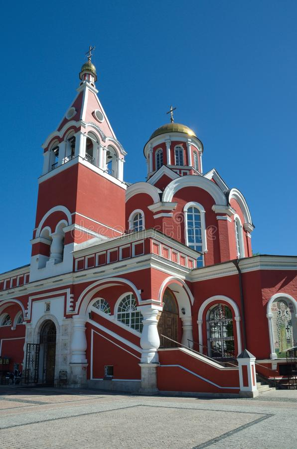 The Church of the Annunciation in Petrovsky Park, Moscow, Russia royalty free stock photos