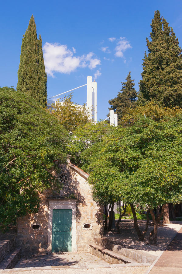 Church of the Annunciation. Tivat city, Montenegro stock photography