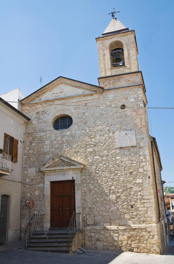 Church of Annunziata. Deliceto. Puglia. Italy. Perspective of the Church of Annunziata. Deliceto. Puglia. Italy royalty free stock images