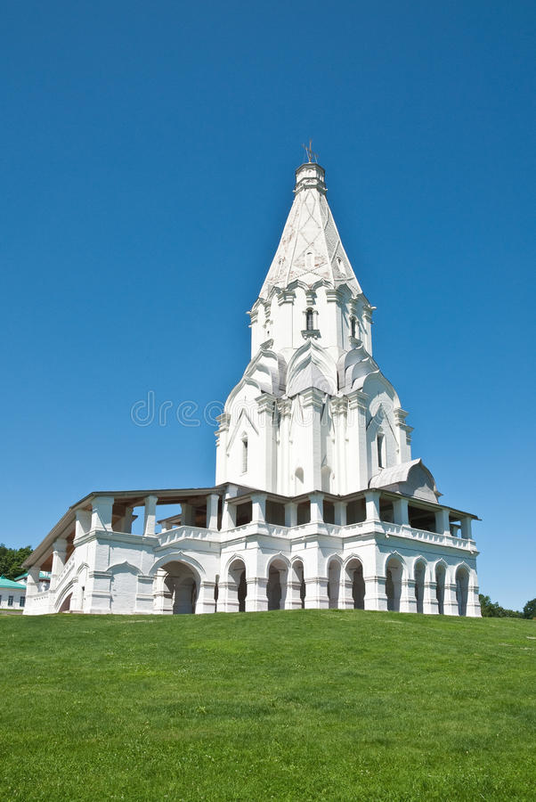 Church in Kolomenskoye, Moscow royalty free stock photos