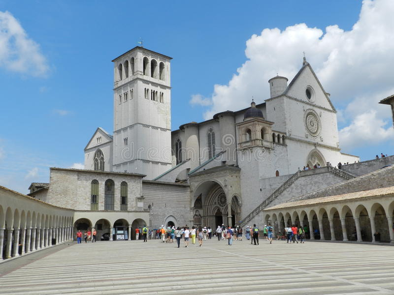 Church in Assisi. The famous church of Assisi in Italy royalty free stock photography