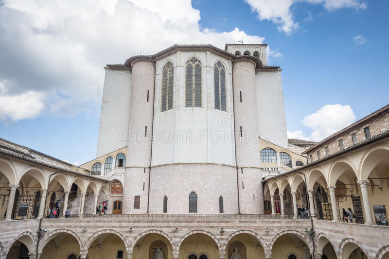 Church of Assisi in Italy. An image of the church of Assisi in Italy stock photos