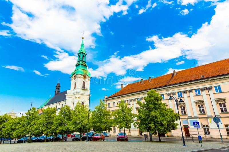 Church of assumption of the blessed virgin Mary in Kalisz, Poland. Church of assumption of the blessed virgin Mary in Kalisz, central Poland stock photos