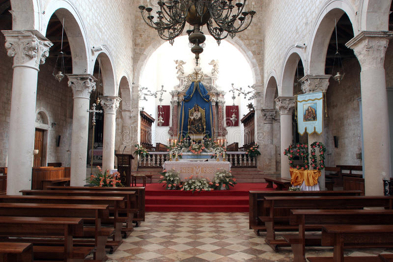 Church of Assumption of the Blessed Virgin Mary in Pag royalty free stock photography
