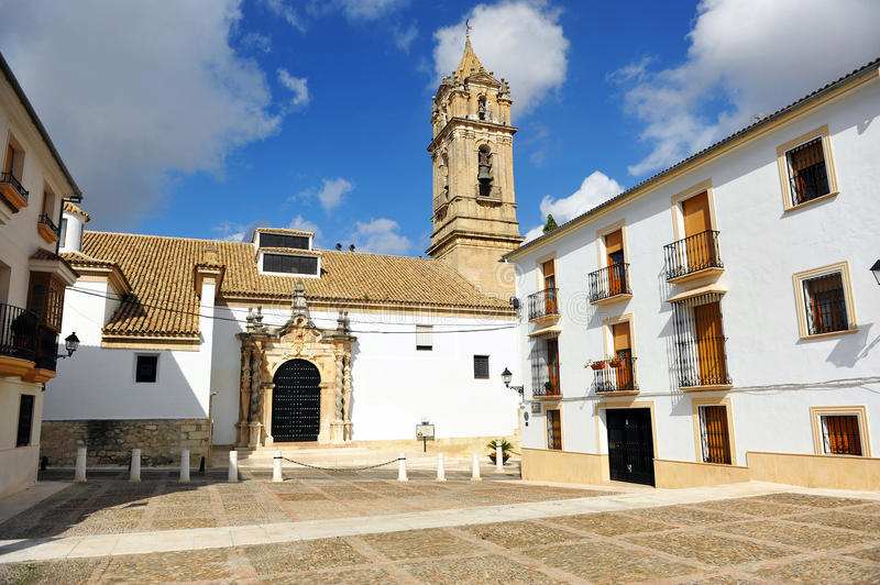 Church of the Assumption, Cabra, province of Cordoba, Spain. The baroque church of Our Lady of the Assumption in Cabra, town of the province of Cordoba, Spain stock photo