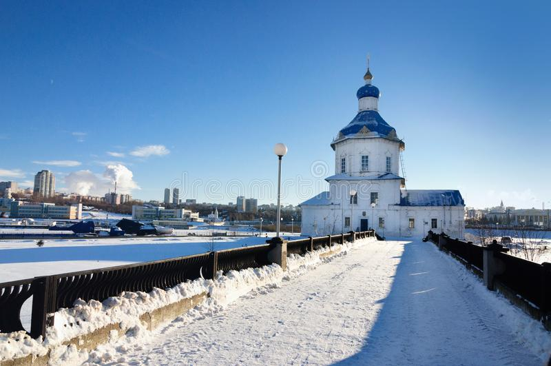 Church of the Assumption of the Holy Virgin, Cheboksary, Russia. royalty free stock photos