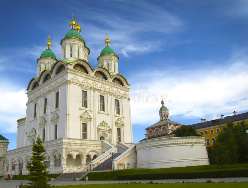 Church in Astrakhan. The Astrakhan Kremlin is a remarkable monument of ancient Russian architecture, built in Astrakhan, Russia, in the second half of the 16th stock images