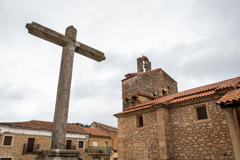 Church of the Asuncion, Valverde del Fresno, Caceres, Extremadura, Spain.  stock images