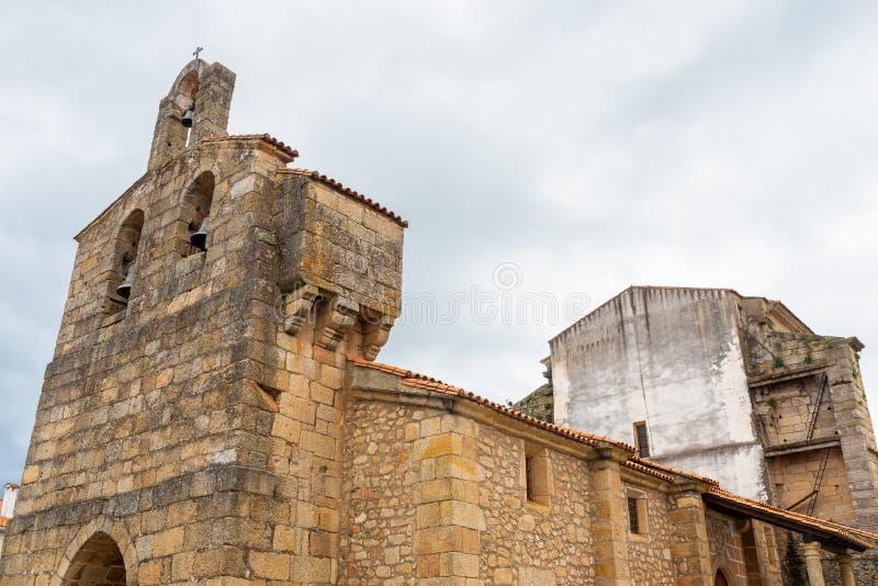 Church of the Asuncion, Valverde del Fresno, Caceres, Extremadura, Spain.  stock image
