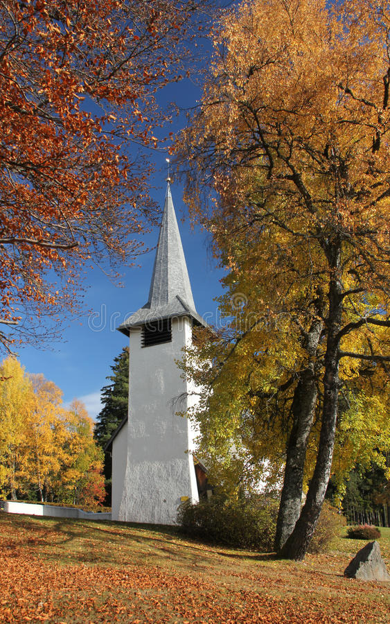 Church In The Autumn Stock Photo