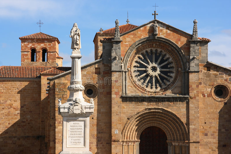 Church in Avila royalty free stock photo