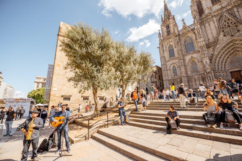 Church in Barcelona stock photo