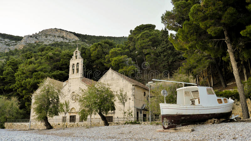 Church on the beach stock image