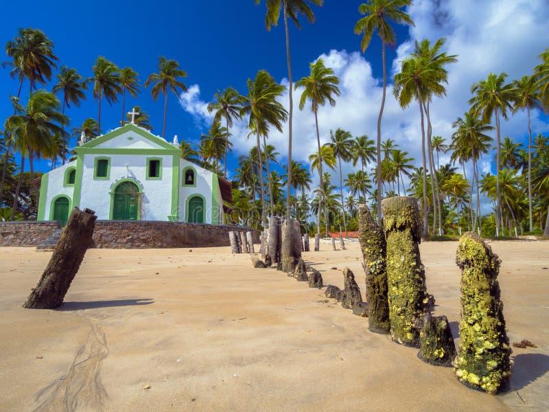 Church on the beach stock photo