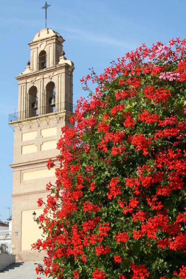 Free Church Behind Red Shrub Stock Image - 11342941